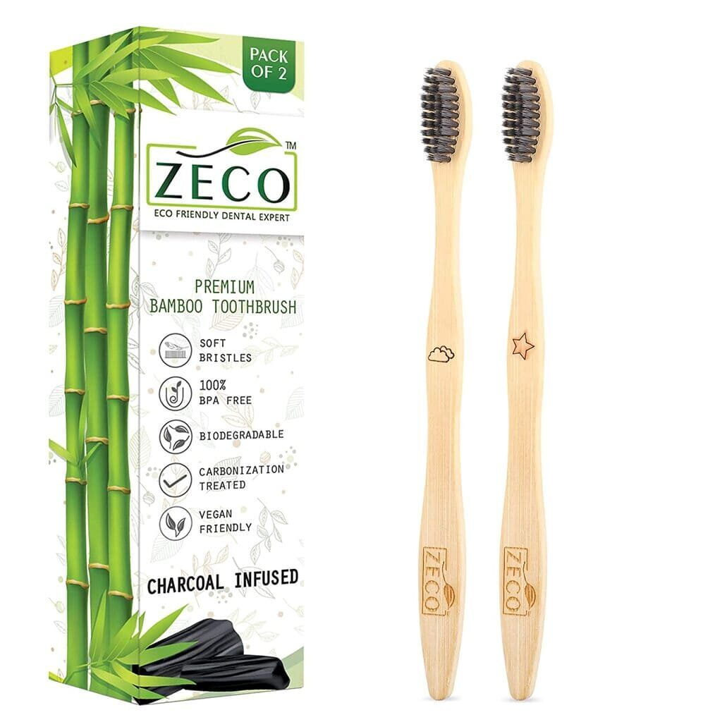 Zeco Activated Charcoal bamboo toothbrush