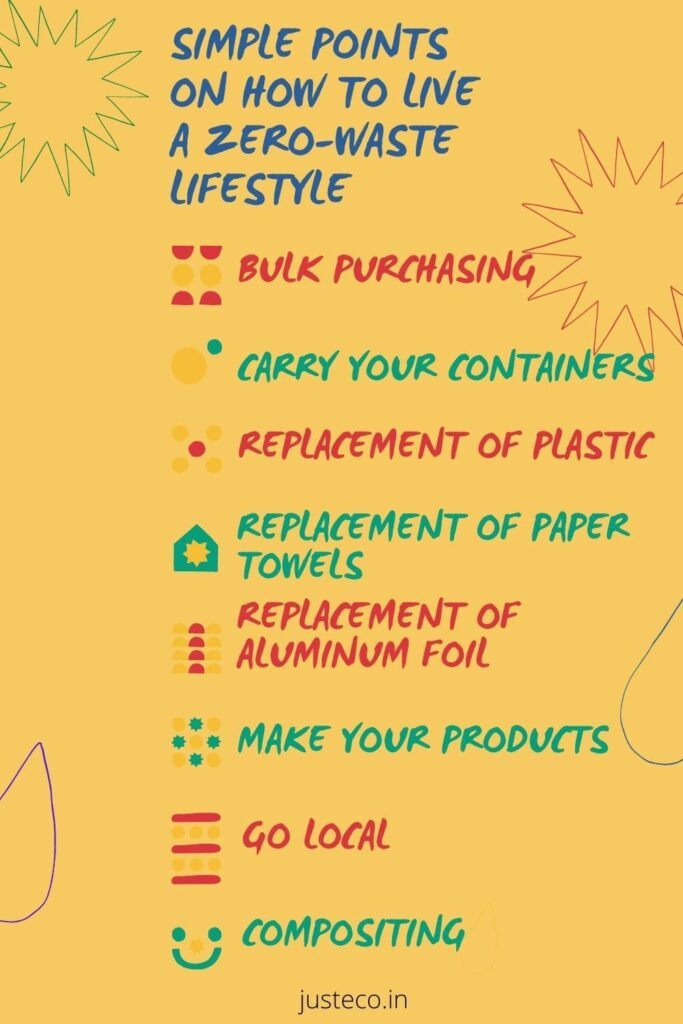 simple points on how to live a zero-waste lifestyle