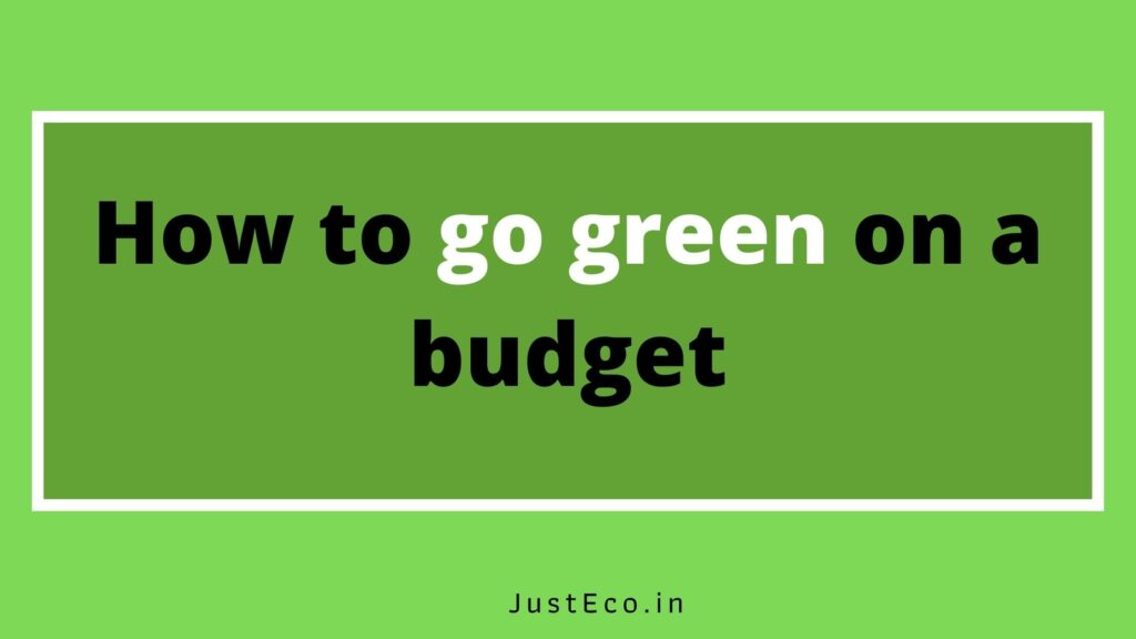 How to go green on a budget